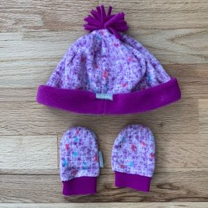 Columbia Watercolor Baby Hat & Mittens
